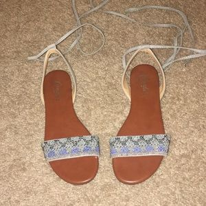 Blue and brown Candies sandals